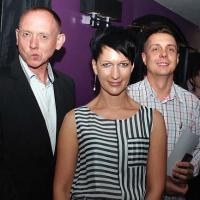 Aktor Paweł Burczyk z żoną i fotograf Michał Czajka
