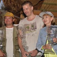 Zwycięzcy zawodów: Robert Żołędziewski (I miejsce), Tomasz Kozłowicz (II miejsce) i Izabela Trojanowska (III miejsce)