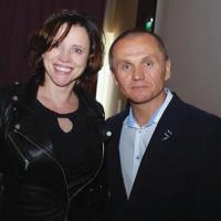 Prezes KIE Barbara Jończyk z Romanem Polko