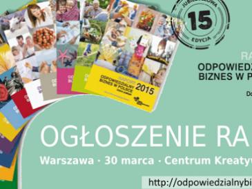 """Prezentacja raportu """"Odpowiedzialny biznes w Polsce. Dobre praktyki 2016"""""""