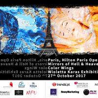 """Wioletta Karaś """"Mirrors of Hell & Heaven"""" patronat klubu nad wystawą w Paryżu"""