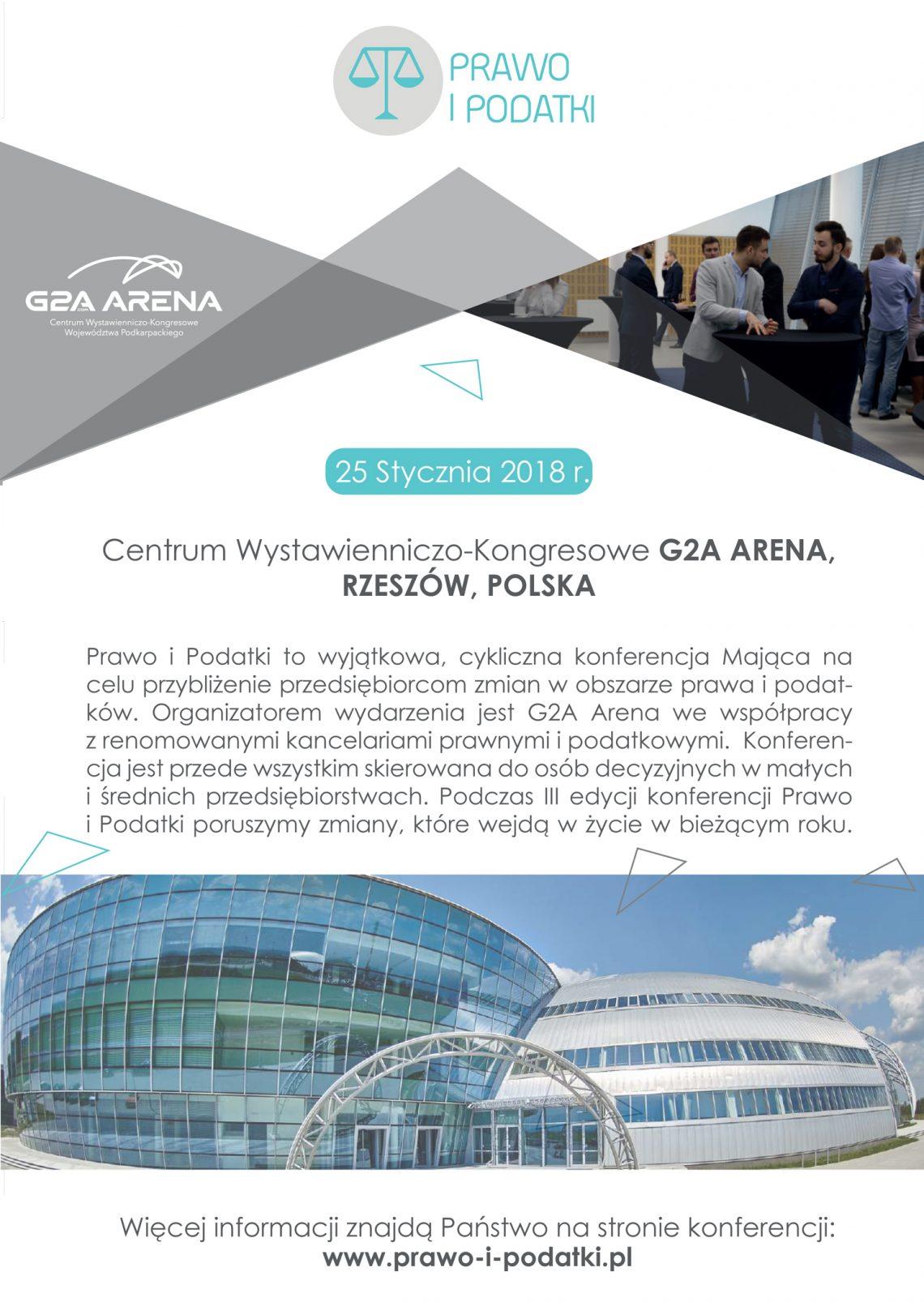 O prawie i podatkach dla przedsiębiorców w G2A Arena pod patronatem magazynu przedsiębiorcy@eu, już 25 stycznia!
