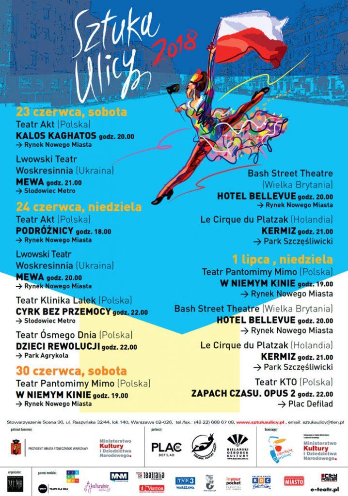 plakat 26. Międzynarodowego Festiwalu Sztuka Ulicy