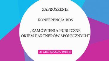 Zamówienia publiczne okiem partnerów społecznych - zaproszenie na konferencję Rady Dialogu Społecznego