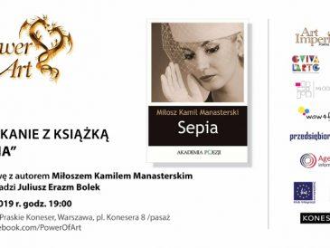 """Spotkanie z poezją Manasterskiego z tomiku """"Sepia"""""""