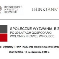 Społeczne wyzwania biznesu po 30 latach gospodarki wolnorynkowej w Polsce