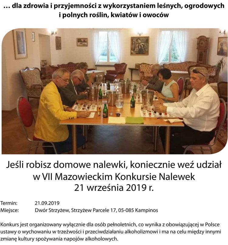 VII Mazowiecki Konkurs Nalewek w Dworze Strzyżew, 21 września