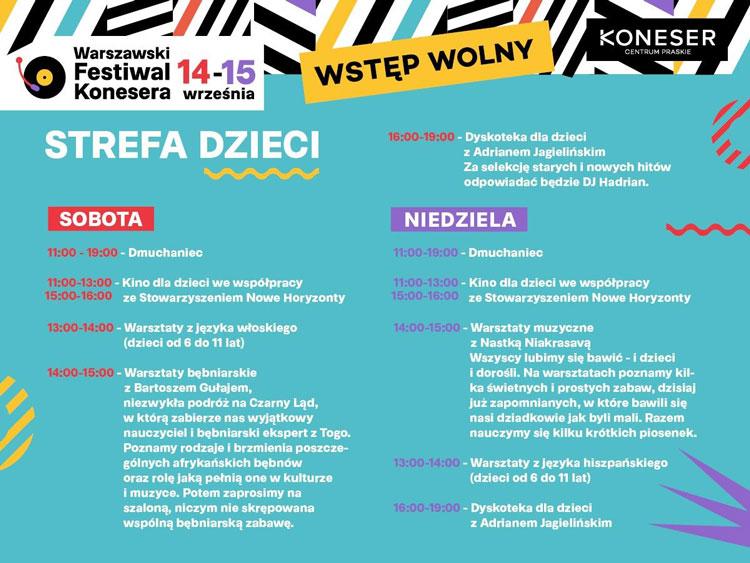 Warszawski Festiwal Konesera, program edycji 2019