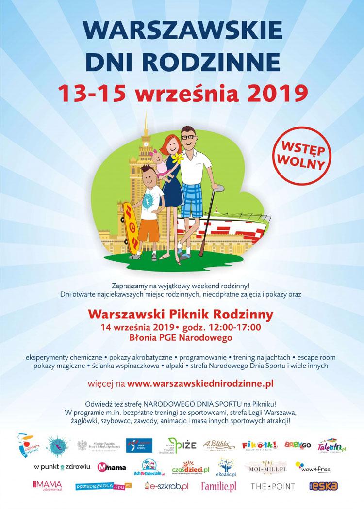 Zaproszenie na Warszawskie Dni Rodzinne 14 września