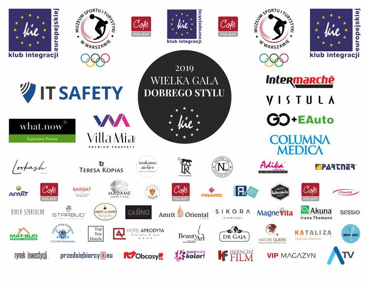 XII Wielka Gala Dobrego Stylu - partnerzy i sponsorzy