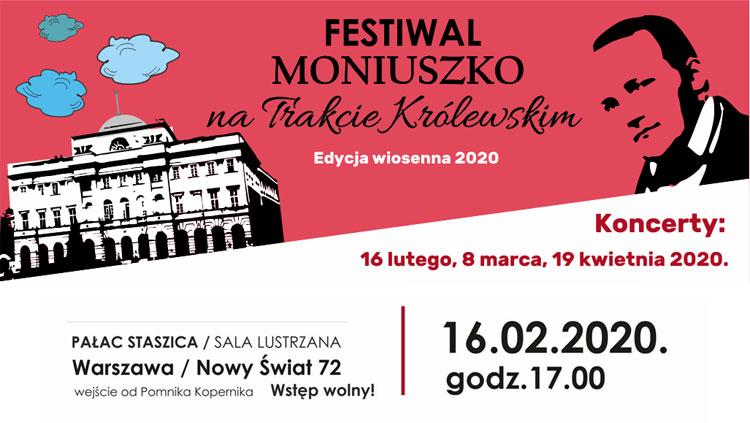 Festiwal Moniuszko na Trakcie Królewskim – pierwszy koncert już w niedzielę!
