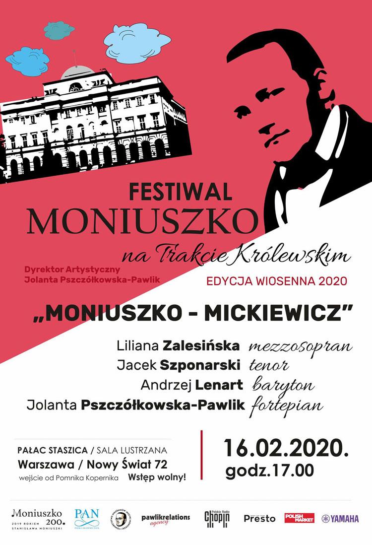 Wiosenny Festiwal Moniuszko na Trakcie Królewskim, plakat