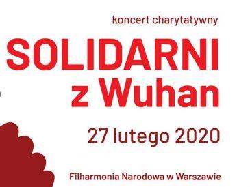 Solidarni z Wuhan, koncert charytatywny w Filharmonii Narodowej