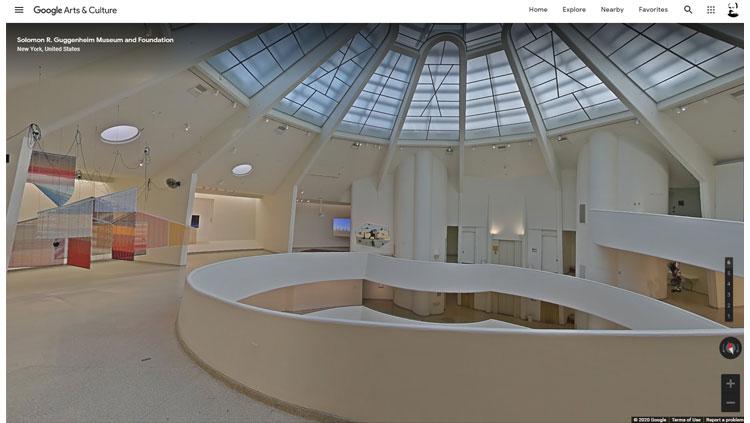 Muzeum bez wychodzenia z domu, czyli kultura za friko(na zdjęciu z Google Maps wnętrze zakręconego Muzeum Guggenheima w Nowym Jorkum