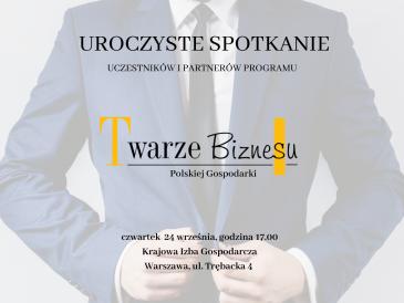 Finał programu programu Twarze Biznesu Polskiej Gospodarki