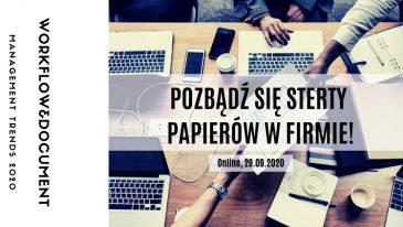 Konferencja Workflow & Documents Managemens Trends tym razem online