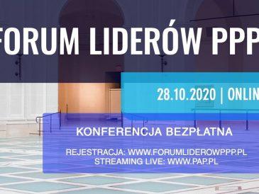 Forum Liderów PPP, w tym roku online