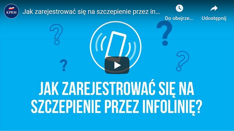 Jak zarejestrować się na szczepienie przez infolinię? Obejrzyj film ze strony www.gov.pl/web/szczepimysie.