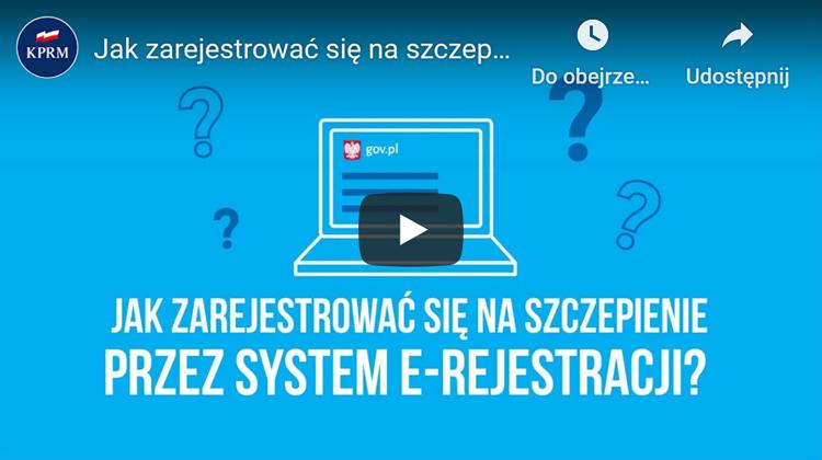 Jak zarejestrować się na szczepienie przez system e-Rejestracji? Obejrzyj film ze strony www.gov.pl/web/szczepimysie.