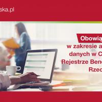 Obowiązki spółek w zakresie aktualizacji danych w Centralnym Rejestrze Beneficjentów