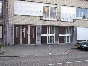 dom na granicy w Baarle
