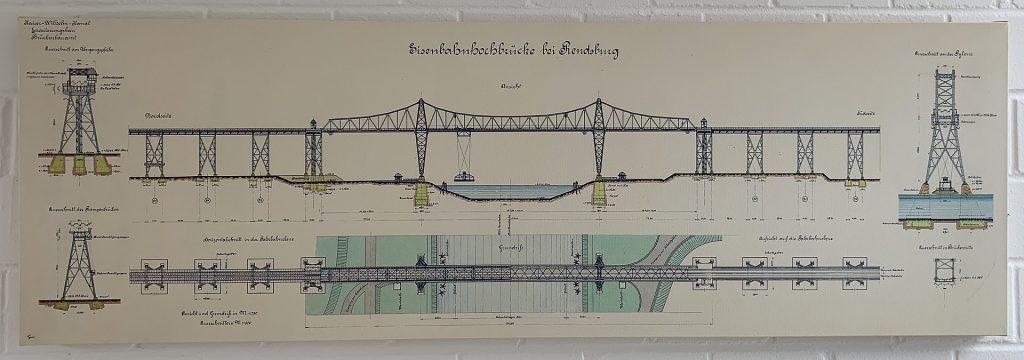 Rendsburger Hochbrücke nad Kanałem Kilońskim to właściwie dwa  mosty