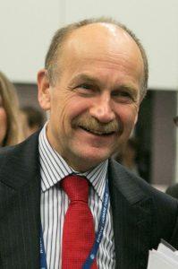 Zygmunt Berdychowski podczas Forum Europa-Ukraina w Łodzi